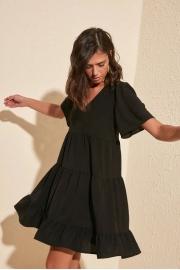 Siyah Geniş Kesim Elbise