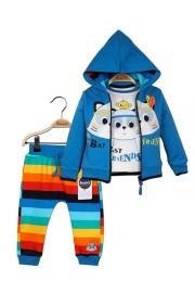 Erkek Bebek Hırka Sweatshirt Pantolon 3lü Takım